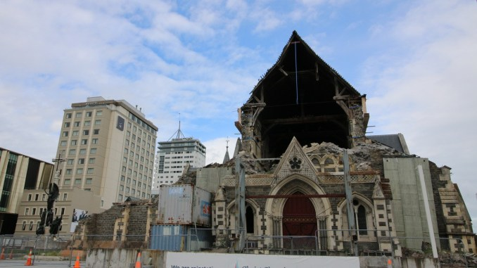 Cathedral site blessing live streamed