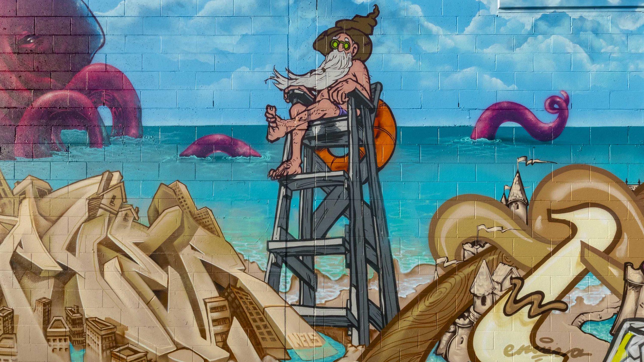 New Brighton murals bring seaside splash of colour