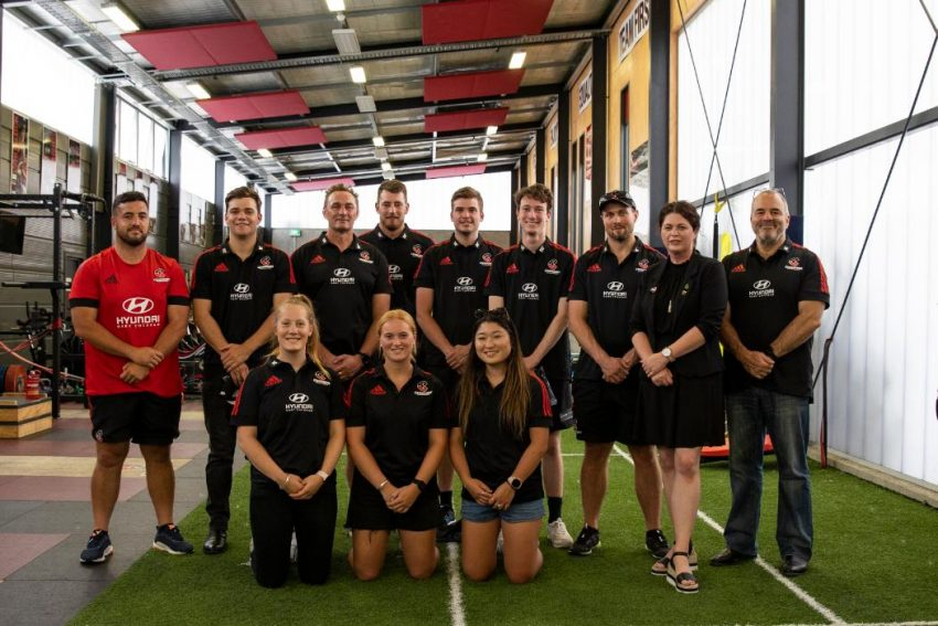 Canterbury students tackle career options as interns for the Crusaders