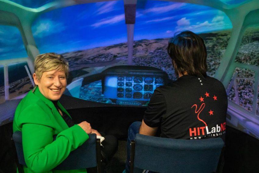 Mayor takes a virtual tour at the University of Canterbury