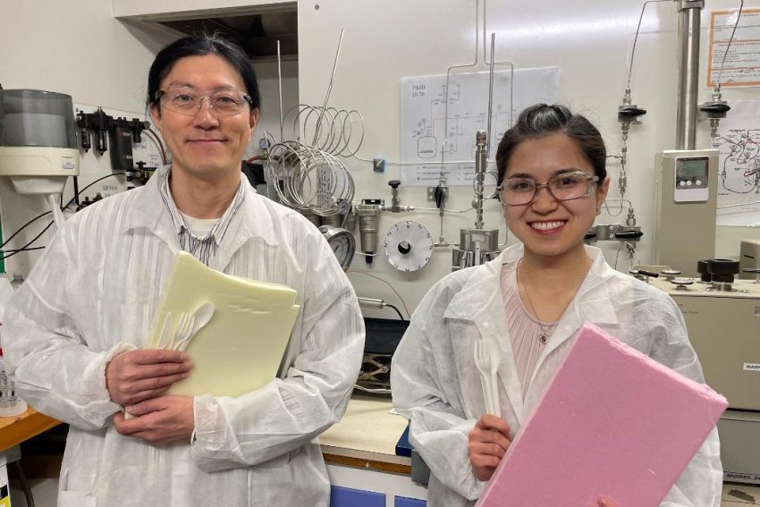 Plastic cutlery can be recycled into home-insulating foam – new NZ research